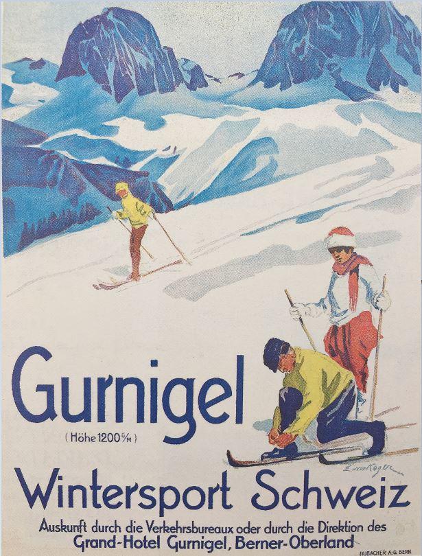 Plakat-Wintersport-Schweiz-Gurnigel